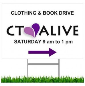 Clothing Book Drive Sign 2